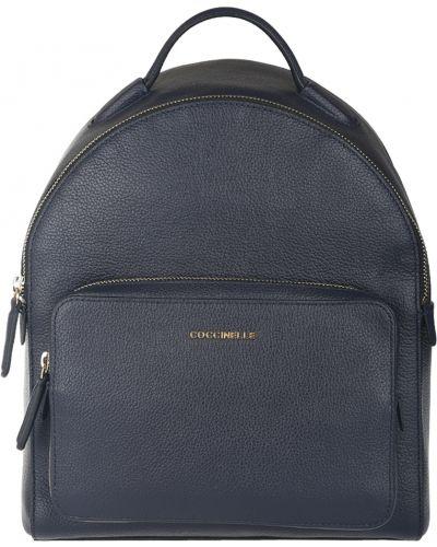 Рюкзак на молнии синий Coccinelle