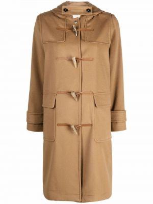 Бежевое шерстяное пальто Mackintosh