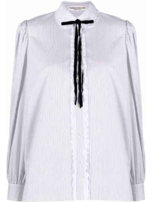 Biała biała koszula bawełniana Alessandra Rich