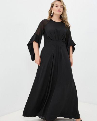 Черное вечернее платье Seam