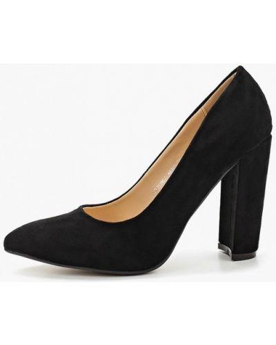 Туфли на каблуке черные замшевые Fersini