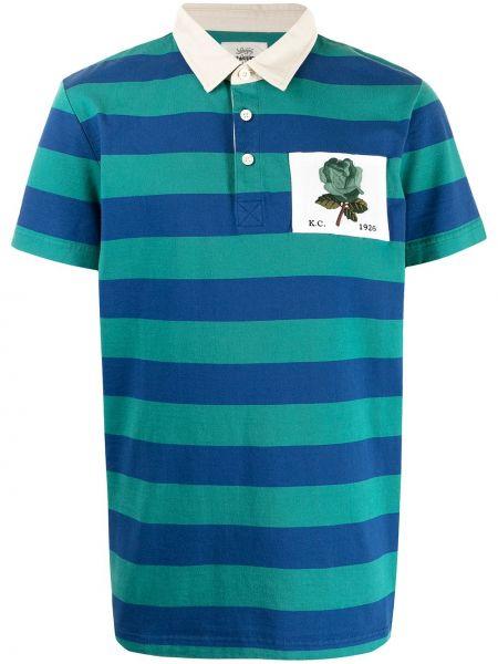 Niebieska koszula bawełniana w paski Kent & Curwen