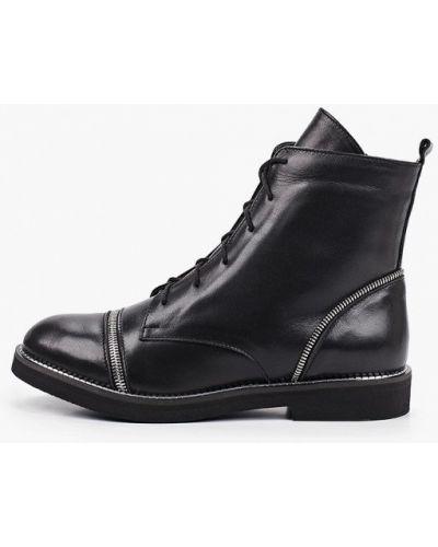 Черные кожаные ботинки Enzo Logana