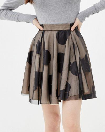 Черная юбка свободного кроя Ricamare
