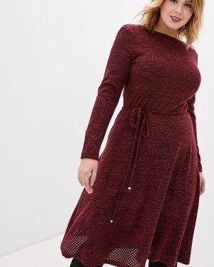Повседневное платье бордовый красный La Selva