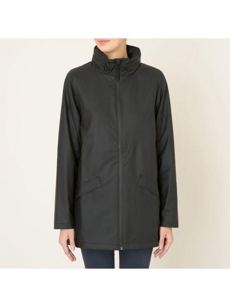 Куртка с капюшоном черная на молнии Rains