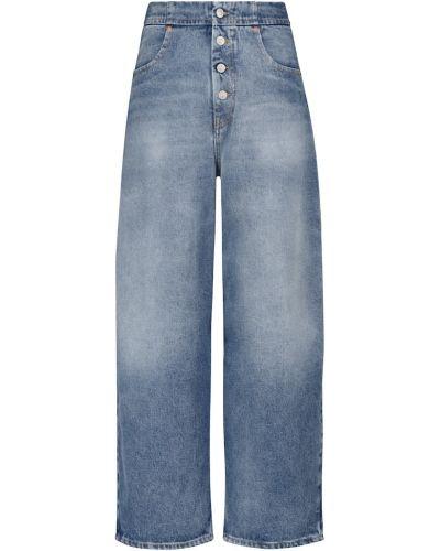 Джинсовые широкие джинсы - синие Mm6 Maison Margiela