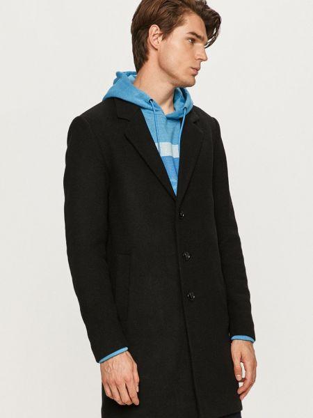 Шерстяное пальто - черное Produkt By Jack & Jones