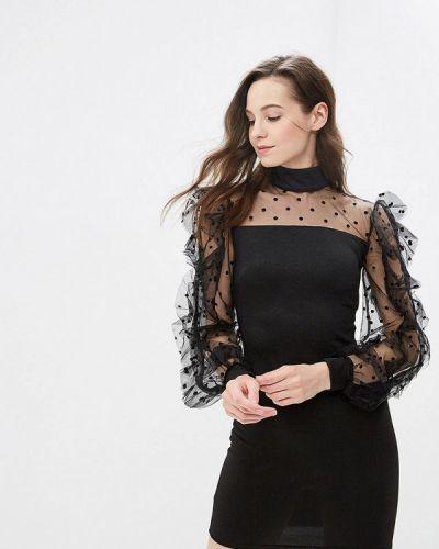 Вечернее платье весеннее черное Gepur