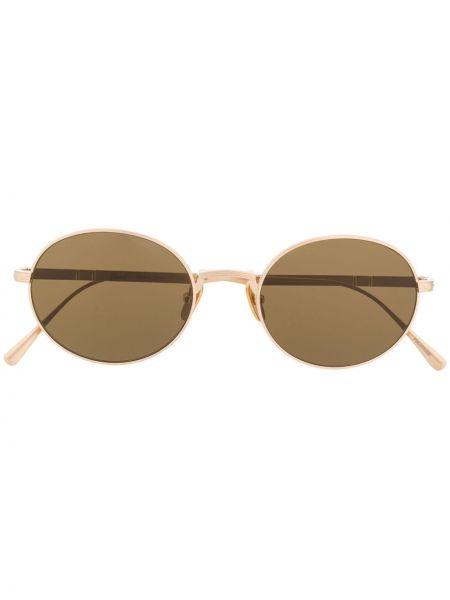 Золотистые желтые солнцезащитные очки Persol