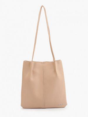 Бежевая кожаная сумка Lolli L Polli
