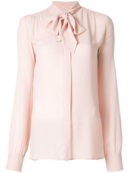 Блузка с длинным рукавом розовая в полоску Giambattista Valli