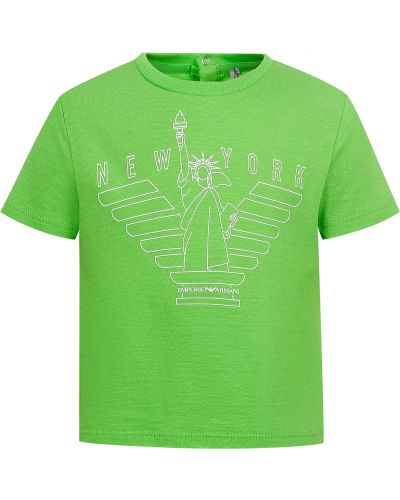 Зеленая футболка Armani Junior