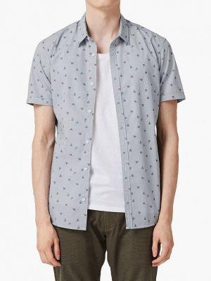 Рубашка с короткими рукавами серая индийский Q/s Designed By