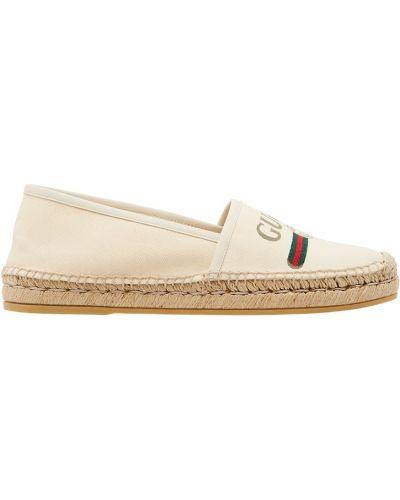 Эспадрильи белые Gucci
