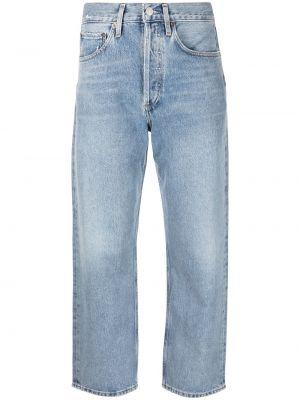 Хлопковые джинсы классические на пуговицах Agolde