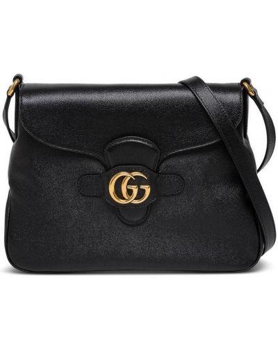 Złota czarna torebka crossbody na co dzień Gucci