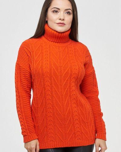 Оранжевый свитер осенний Vay