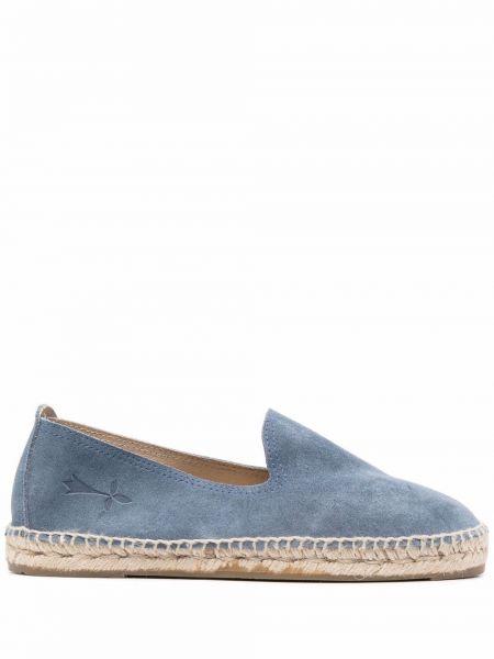 Плетеные синие кожаные эспадрильи Manebi