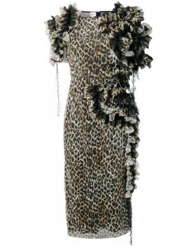 Платье мини миди леопардовое Antonio Marras