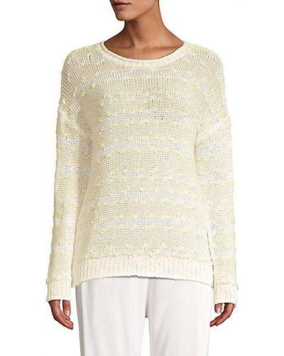 Prążkowany długi sweter bawełniany z długimi rękawami Peserico