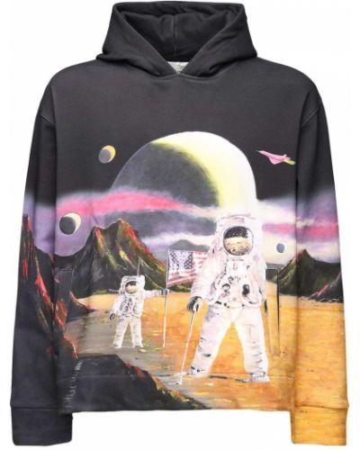 Bluza z kapturem bawełniana z printem Lifted Anchors