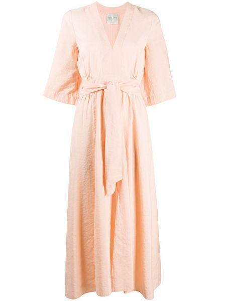 Платье мини миди с V-образным вырезом Forte Forte