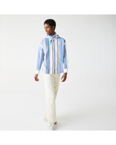Ватная хлопковая рубашка в полоску Lacoste