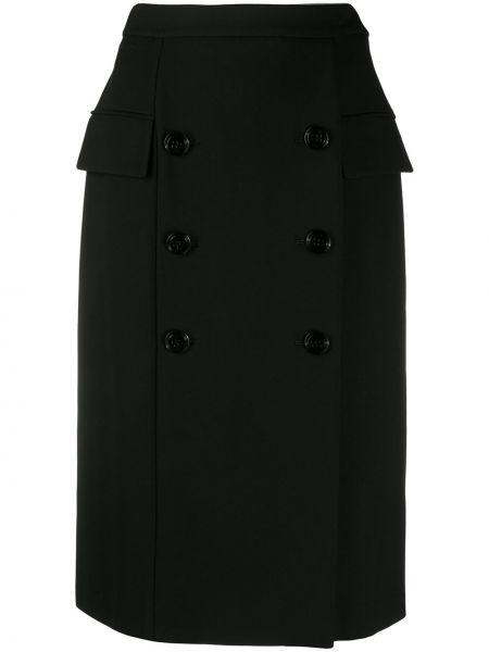 Черная прямая с завышенной талией юбка миди Dorothee Schumacher