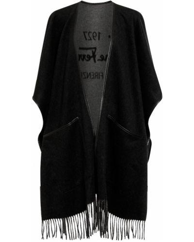 Кашемировая шаль - черная Salvatore Ferragamo