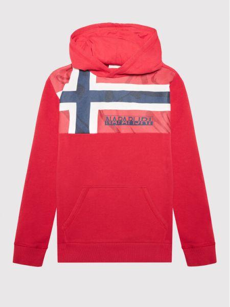 Czerwony dres Napapijri
