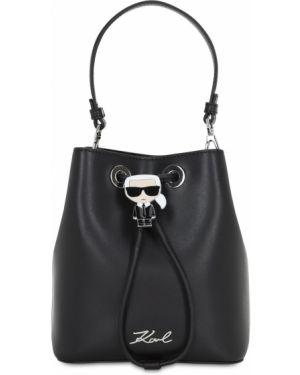 Кожаная сумка на плечо Karl Lagerfeld