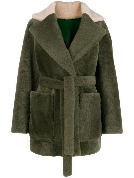Зеленая куртка оверсайз двусторонняя Blancha