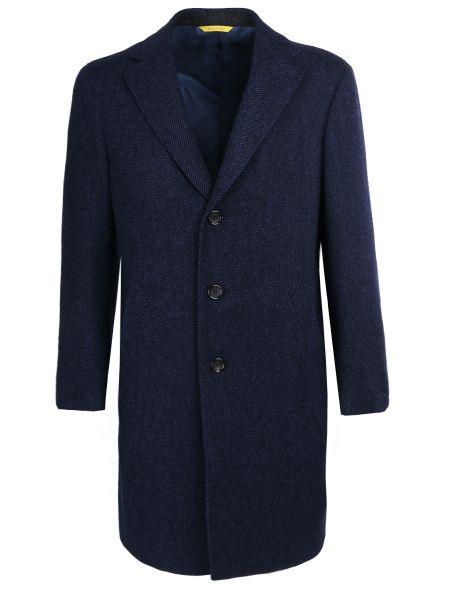 Длинное пальто с лацканами классическое Canali