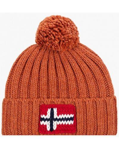 Коричневая зимняя шапка Napapijri