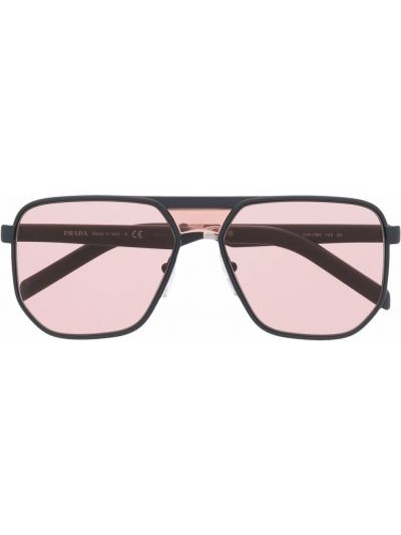 Okulary z printem - różowe Prada Eyewear