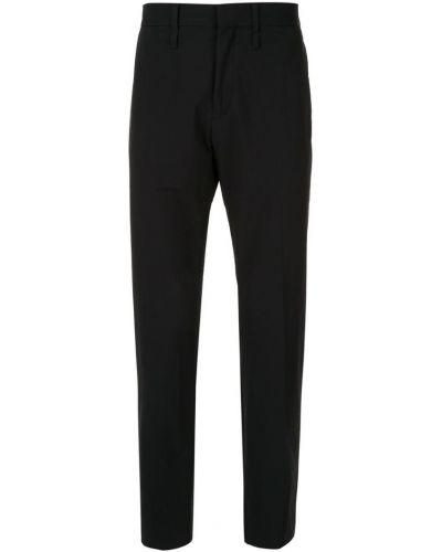 Прямые брюки черные с поясом Knott Men