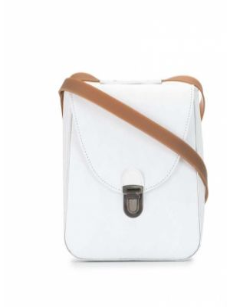 Кожаная белая кожаная сумка Cherevichkiotvichki