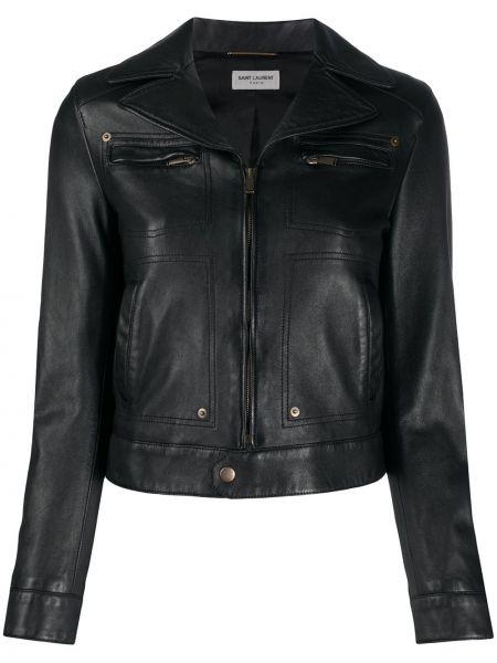 Куртка черная байкерская Saint Laurent