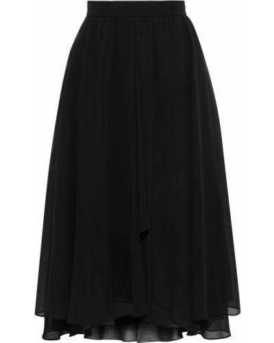Шифоновая черная юбка с подкладкой Mikael Aghal