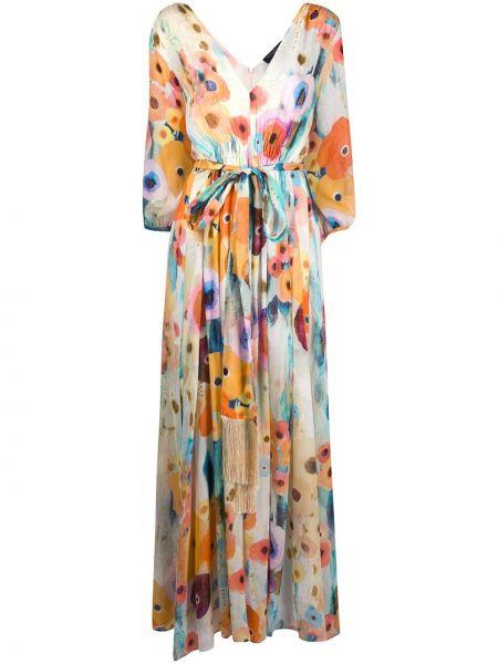 Платье мини макси с цветочным принтом Antonelli