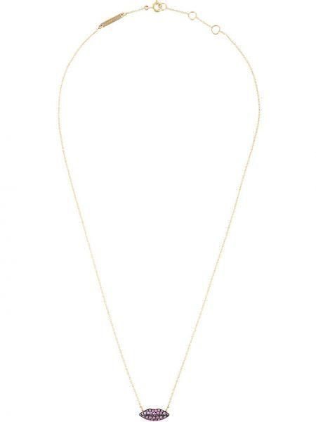 Różowy złoty naszyjnik szafir Delfina Delettrez