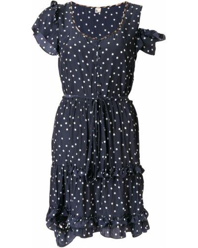Платье на пуговицах с V-образным вырезом R13