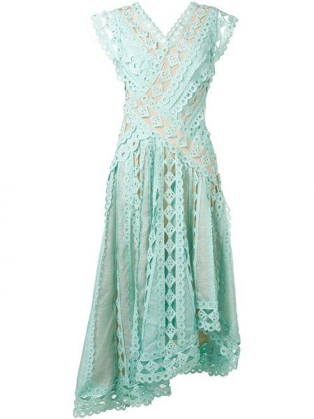 Платье миди с вышивкой с V-образным вырезом Zimmermann