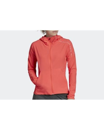 Długa kurtka z kapturem materiałowa z długimi rękawami Adidas