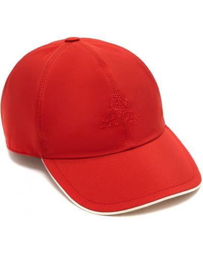 Текстильная красная бейсболка с вышивкой Loro Piana