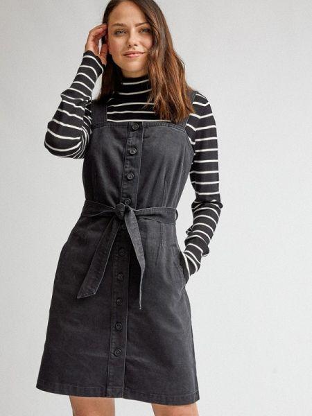 Джинсовое платье черное весеннее Dorothy Perkins