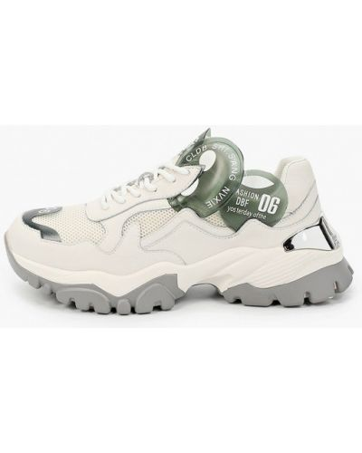 Кожаные белые кроссовки Abricot