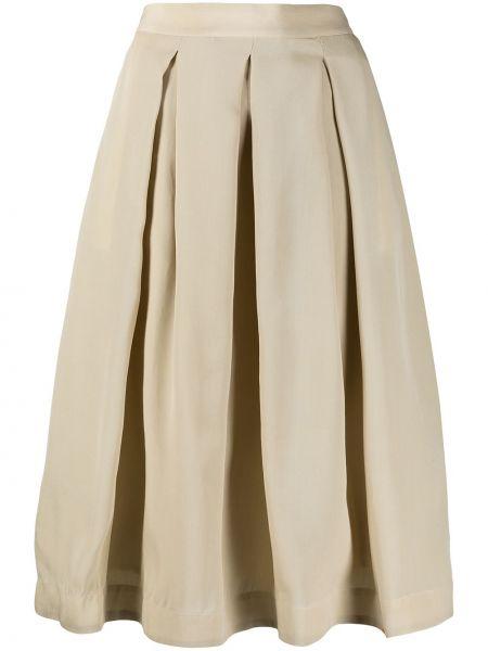 Шелковая с завышенной талией плиссированная юбка миди SociÉtÉ Anonyme