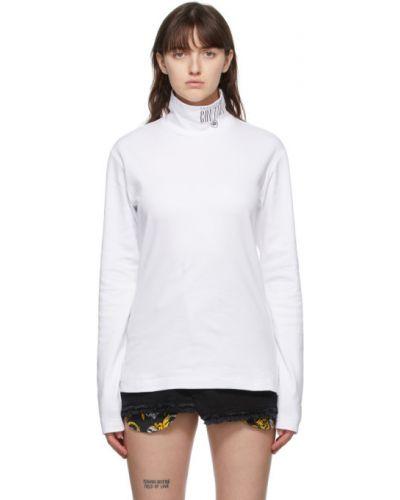 С рукавами хлопковые белые джинсы Versace Jeans Couture
